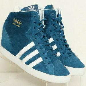 ADIDAS Basket Profi Blue Hidden Wedge Heel Sneaker